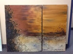 Large diptych painting ONTARIO ARTIST