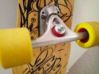 Skateboard Longboard - Loaded Poke complete, Paris Trucks, Keanu Orangatang wheels 68mm, 86a