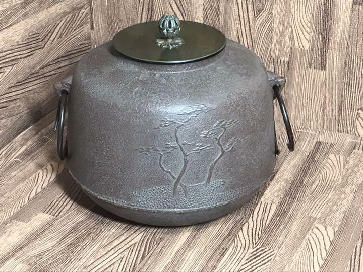 Chagama Kama Iron Kettle Tea Ceremony Sado Japanese Traditional Craftsf070