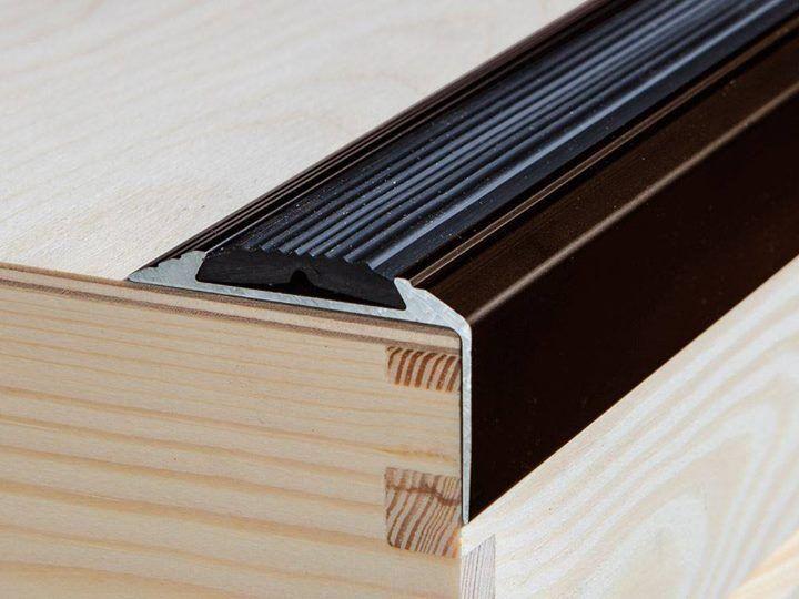120 cm bruin aluminium antislip trappen profiel trapprofielen hoek profiel
