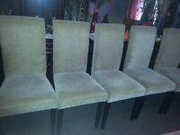 CHEAPER 45,00,,,,,5 CHAIRS - VERY COMFORTABLE. TABLE FOR FREE