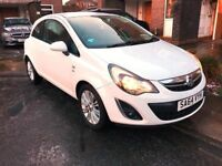 2014 White Vauxhall Corsa 1.2 SE 3DR. Great condition, low mileage,one owner,full service history.