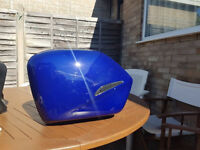 VFR800 vtec set of panniers in blue with mountings and fixings