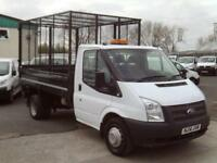Ford Transit T350 Single Cab Tipper 100ps Cage DIESEL MANUAL WHITE (2014)