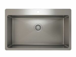 Brand new Pro-Chef top mount stainless steel sink and grid.