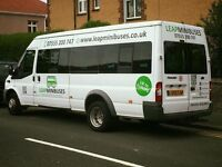 MINIBUS HIRE LONDON - 16 SEATERS - COVER UK & EUROPE - MALE & FEMALE DRIVERS - ACCEPT CARD PAYMENTS
