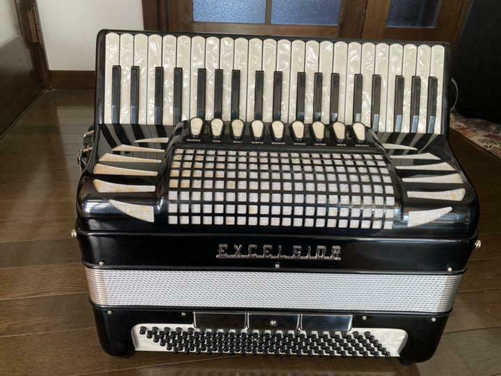 EXCELSIOR 41 Key Accordion 310 Works w / Storage Case Used