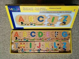 Wooden 'cause alphabet jigsaw puzzle
