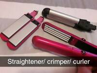 Straighterner crimper and curler set