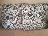 """$4 for both Homeware 2 x Silver Cushions in excellent condition 17 x 17"""" Smoke Free Home"""