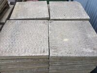 RECLAIMED 600 X 600MM RIBBED PAVING SLABS - 100 AVAILABLE