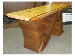 reclamed wood maple bench