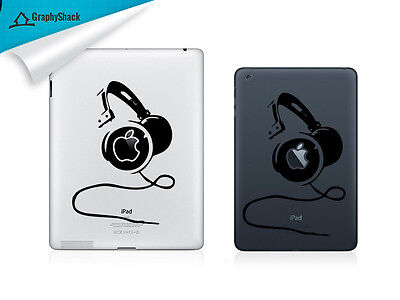 Headphone iPad Decal Vinyl Tab Decals iPad Air Retina ask for iPad Mini