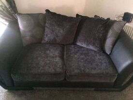 Black And Grey Sofa 3 And 2 Seaters Great Condition