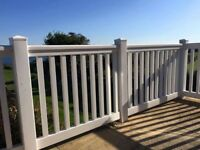 Upvc railings and posts decking rails