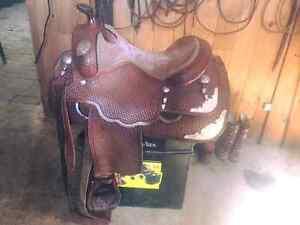 "Western 15 1/2"" Silver Show Saddle"