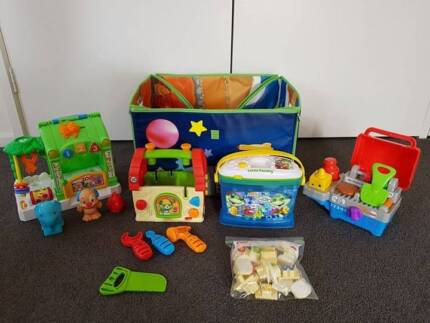 Fisher Price Leap Frog toy box bundle BBQ Zoo Letter Phonics