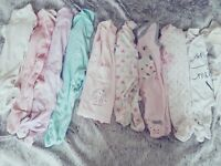 Bundle -Clothes for girl 200 items0-3,3-6.. Mosses basket with the stand ..Free- smoke,