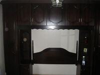 Mahogany built in wardrobes and dressing table