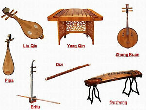Yangqin, erhu, guzheng, pipa, cello/violin/viola/double bass