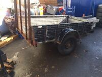 Metal trailer with ramp with NEW good year tires