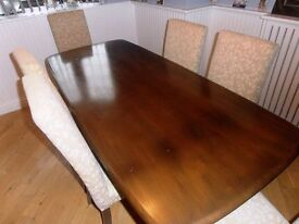 Solid wood Dining Room Table and 6 Chairs and matching Sideboard £300