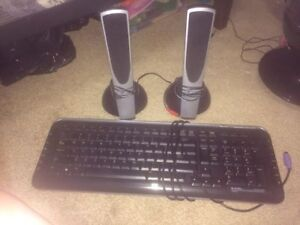 Keyboard and Speakers