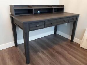 grey oak desk - nearly new!