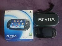 Boxed PS Vita in very good condition and one game.Hardly used.