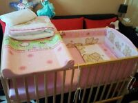 Perfect Condition Baby Cot/Bed with Full Set