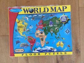 Melissa & Doug Jumbo World Map Puzzle