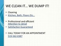 RESIDENTIAL/ COMMERCIAL CLEANING SERVICE 519-562-0387