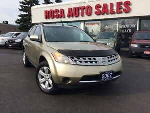 2007 Nissan Murano AWD AUTO SL POWER GROUPE SAFETY ETEST NO ACCI