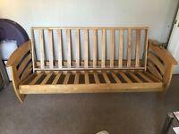 Wooden 3 seater futon frame