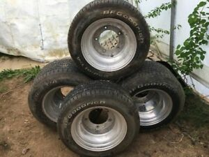 Tires and aluminum rims