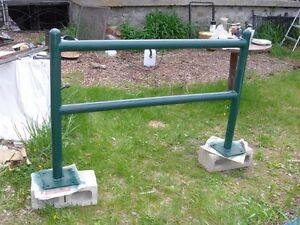 Heavy horse hitching rail , all metal solid and sturdy