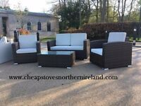 RATTAN GARDEN FURNITURE +FREE FAST DELIVERY get ready for the summer bbq outdoor table chairs sofa