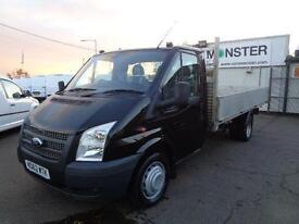 Ford Transit T350 Extra Long Dropside 125ps DIESEL MANUAL BLACK (2013)