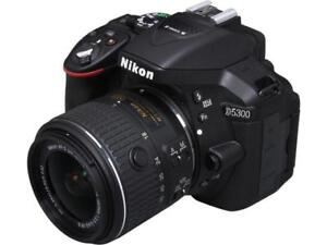 Nikon D5300 DSLR 24.2 MP (WIFI-GPS) + 18-55mm DX VRII
