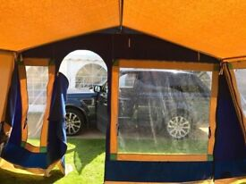 Cabanon estelle 6 man canvas tent, no rips or tears