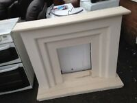 Solid marble fire surround in excellent condition very smart very heavy really nice item