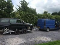 car transporting trailer twin axel