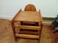 Wooden Child chair and table set