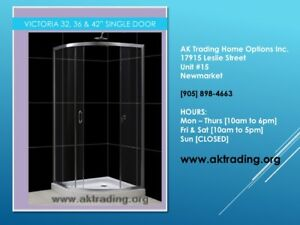 QUALITY SHOWER STALLS W/BASES-LARGE, MEDIUM, SMALL
