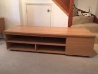 Oak Media / TV Unit (with storage) - Excellent condition