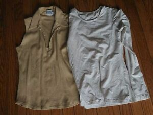 Beige Tank and White Longsleeve Top