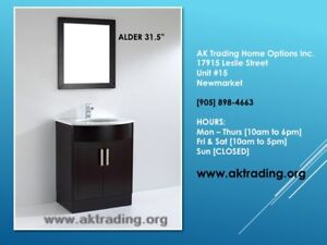 VANITIES AND SHOWER STALLS W/BASE-LARGE, MEDIUM, SMALL SIZES!!!