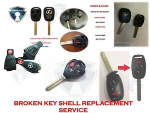 KEY SHELL REPAIR / REPLACEMENT SERVICE BY MAIL