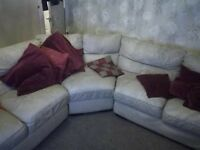 Cream Corner Sofa - very large and in excellent condition.