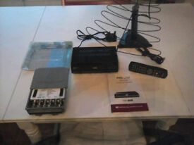 Proline Freeview Box w/ SLX uhf / fm master head amplifier , portable antenna